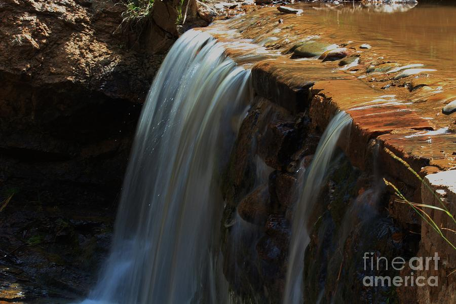Water Photograph - Water Fall At Seven Falls by Robert D  Brozek