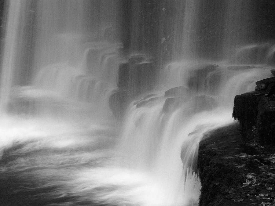 Brecon Waterfall Photograph - Water Fall by Pete Hemington
