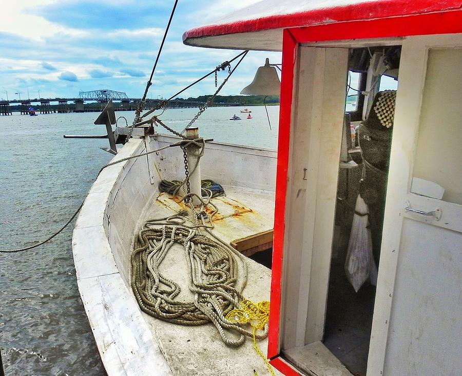 Shrimp Boat Photograph - Water Festival  Beaufort South Carolina  by Patricia Greer