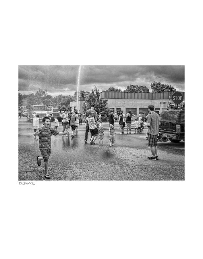 People Photograph - Water Fight by David Coats