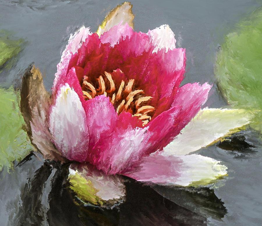 Flower Digital Art - Water Flower Impression by Yury Malkov