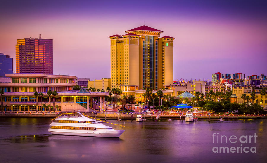 Downtown Tampa Photograph - Water Front Tampa by Marvin Spates