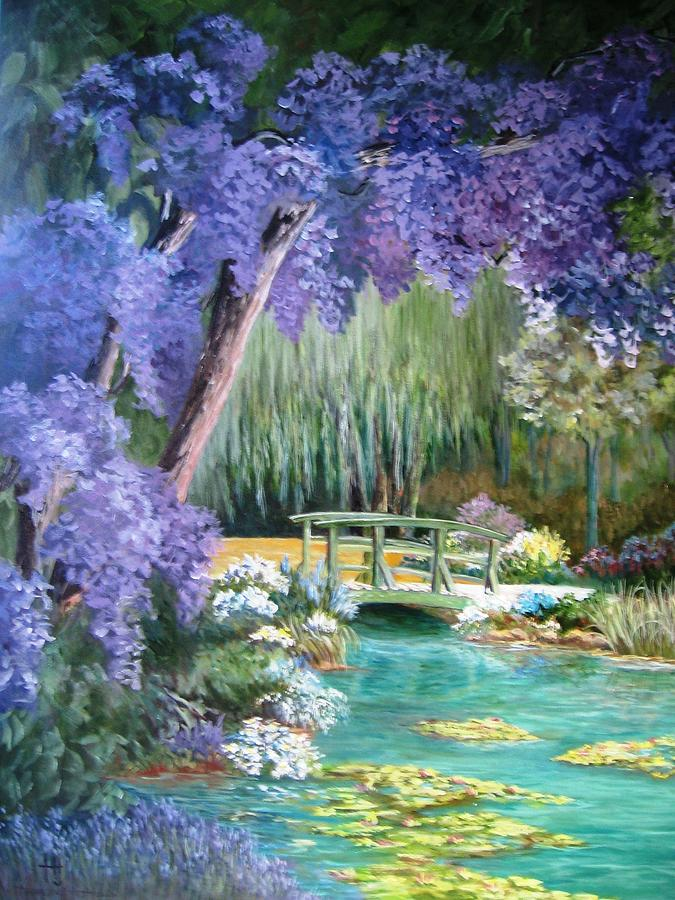 Landscape Painting - Water Garden by Teresita Hightower