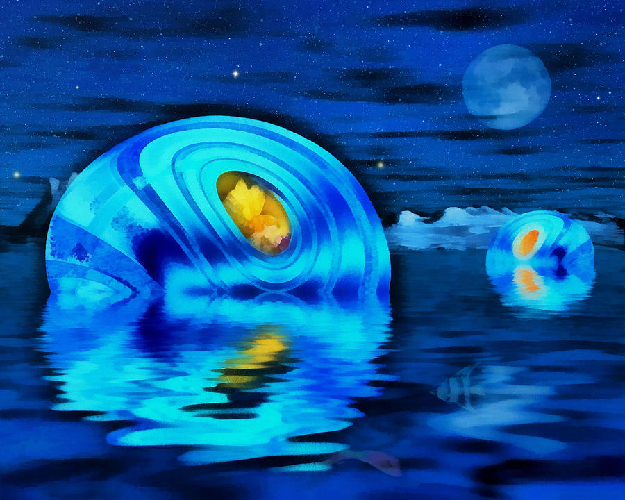 Sea Sprites Digital Art - Water Homes Of The Sea Fairies by Mario Carini