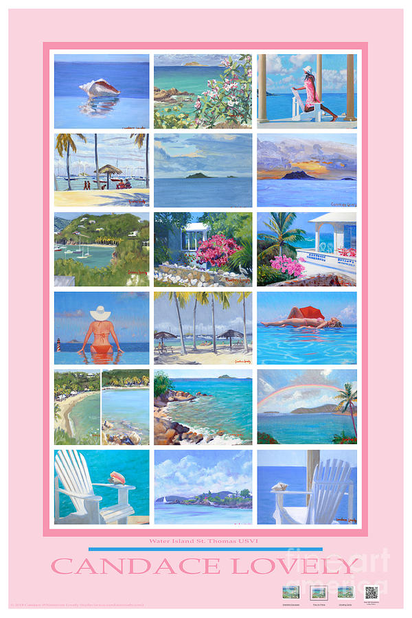 Poster Painting - Water Island Poster by Candace Lovely