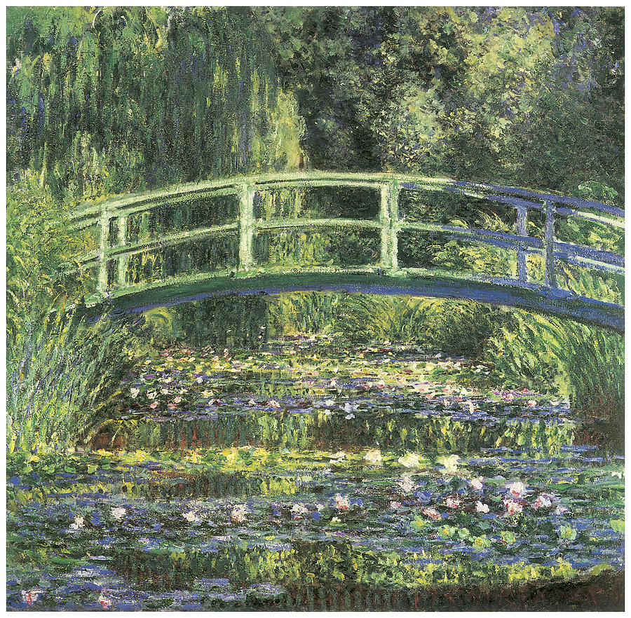 Waterlilies Painting - Water Lilies And Japanese Bridge by Claude Monet