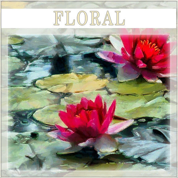 Water lilies and lotus flowers gallery logo digital art by bernie lee mightylinksfo