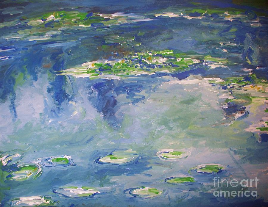 Landscapes Painting - Water Lilies Giverny by Eric  Schiabor
