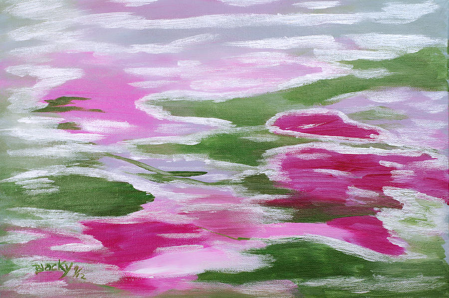 Colorful Abstract Painting - Water Lily by Donna Blackhall