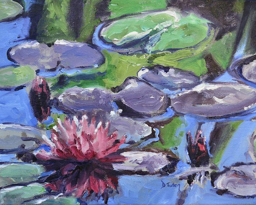 Lily Painting - Water Lily by Donna Tuten