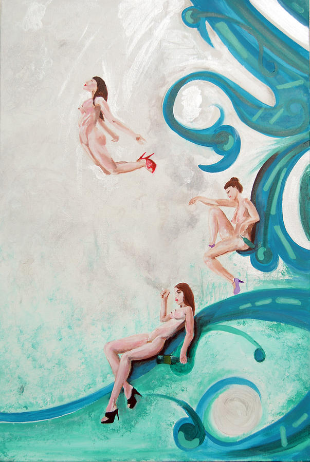 Nude Painting - Water Nymphs by Lorinda Fore and Tony Lima
