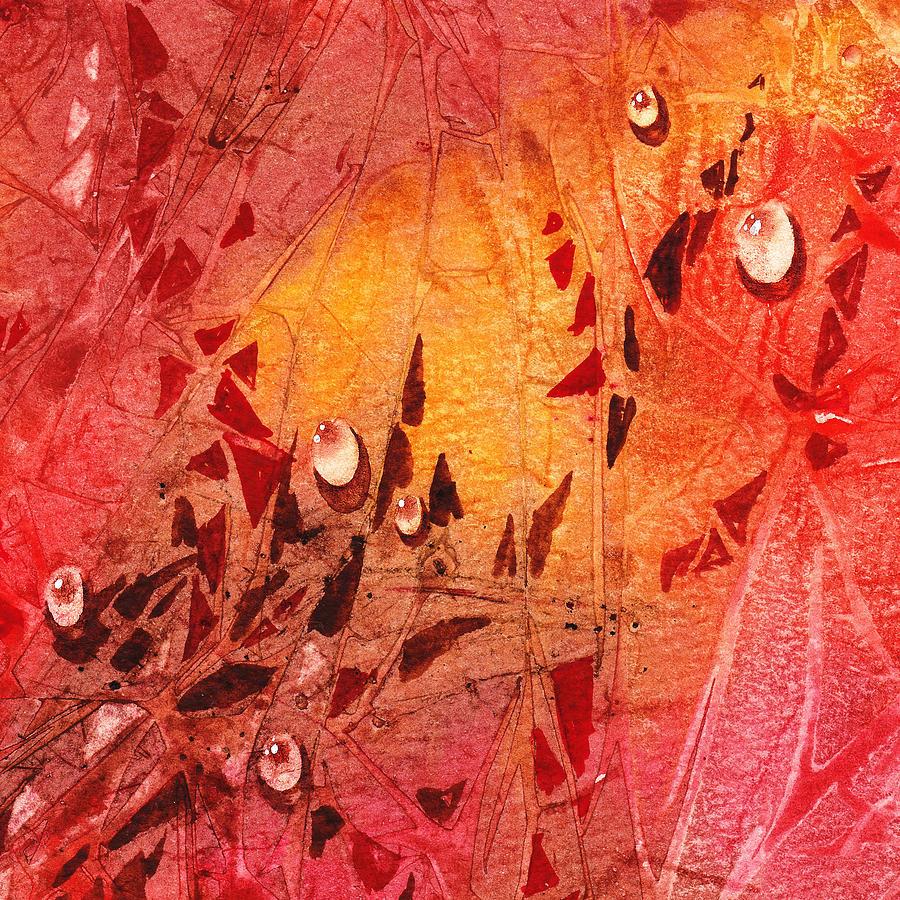 Water Painting - Water On Color Design Seven by Irina Sztukowski