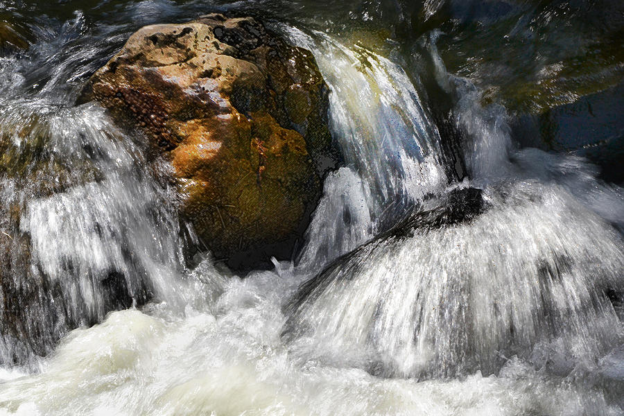 Water Photograph - Water On The Rocks 2 by Karen  W Meyer