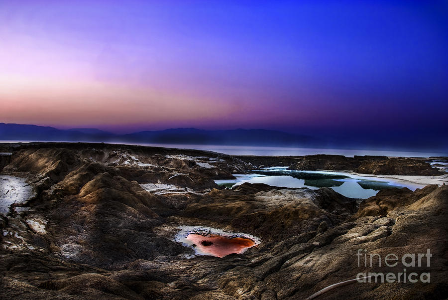 Sink Holes Photograph - Water Pools In Sink Holes by Dan Yeger