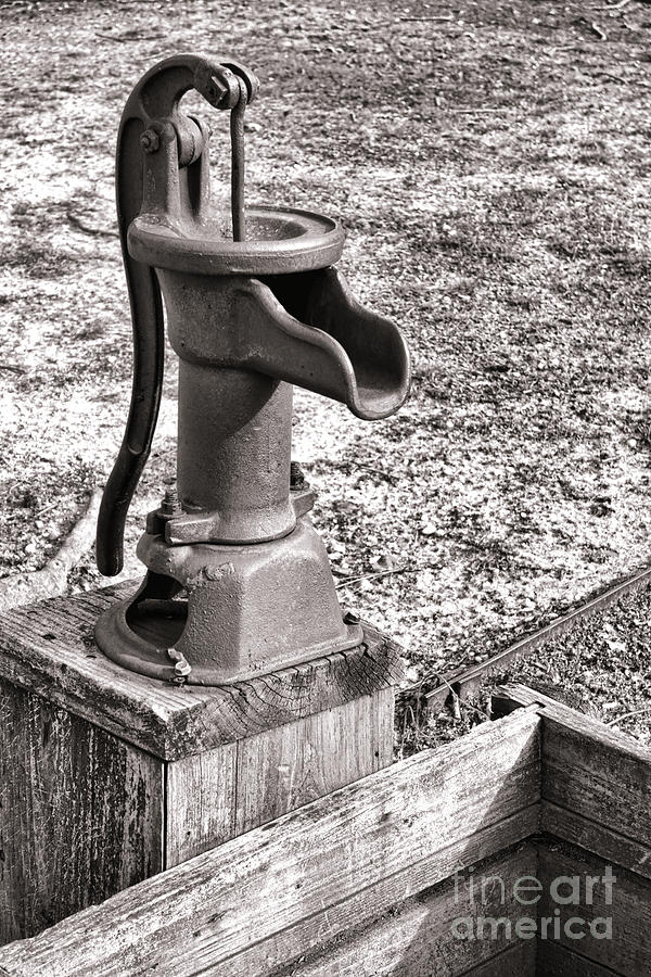 Manual Photograph - Water Pump And Trough by Olivier Le Queinec