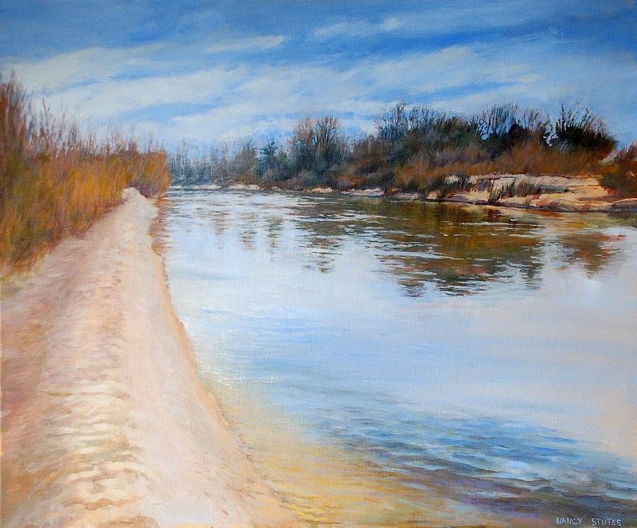 Rivers Painting - Water Reflection by Nancy Stutes
