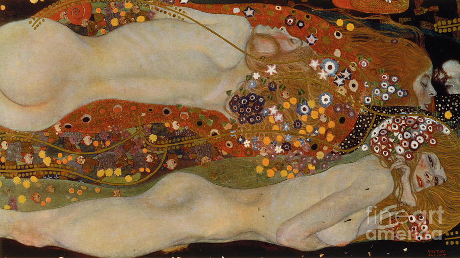 Gustav Klimt Painting - Water Serpents II by Gustav Klimt