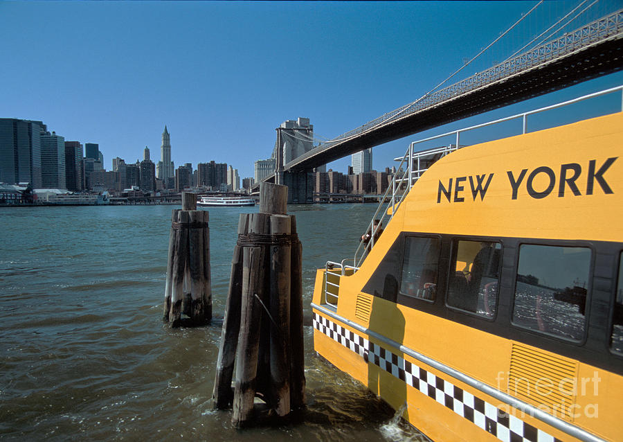 Taxi Photograph - Water Taxi by Bruce Bain