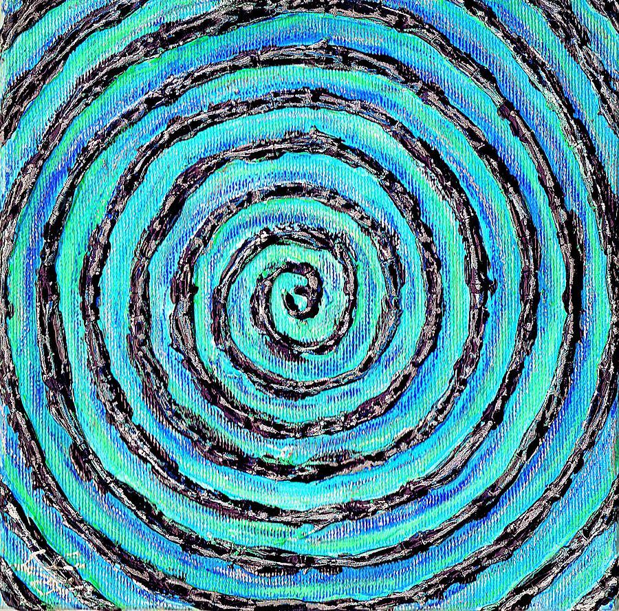 Water Vortex Painting - Water Vortex by Carla Sa Fernandes
