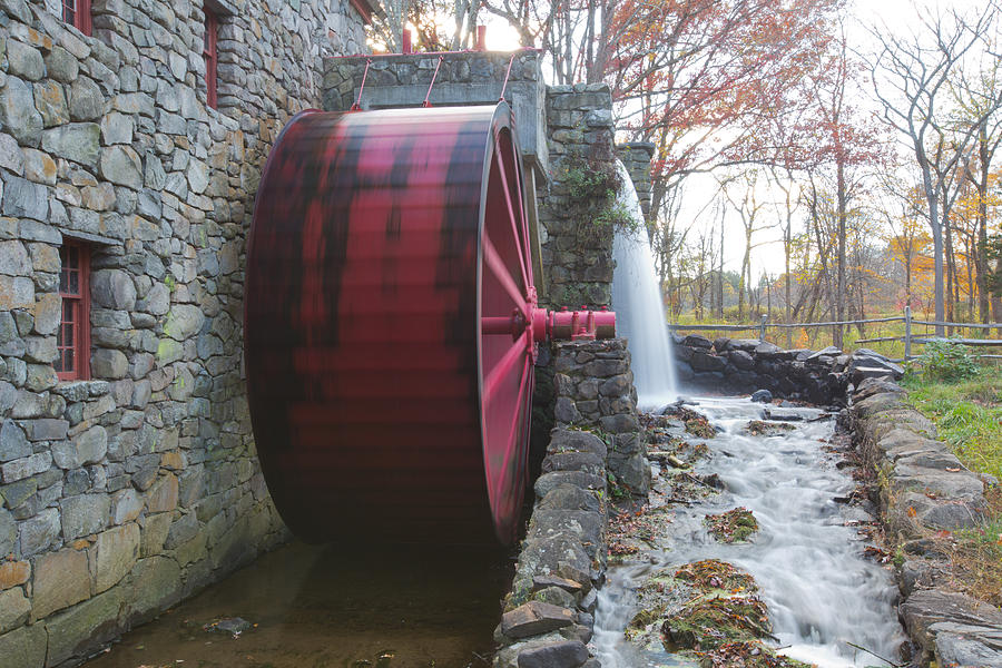Water Wheel Photograph - Water Wheel by Gordon  Grimwade