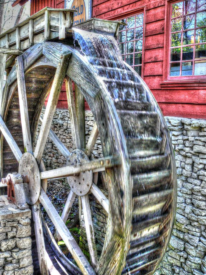 Hdr Photograph - Water Wheel On Mill by John Straton