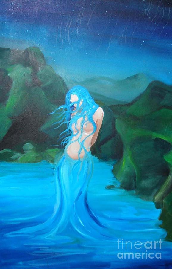 Water Woman Painting by Allison Kohn
