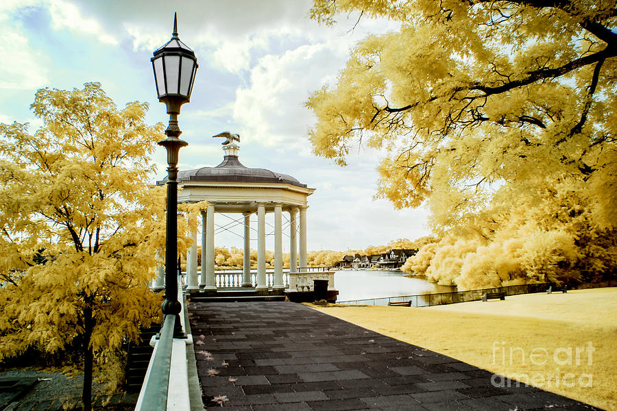 Boathouse Row Photograph - Water Works and Boathouse Row by Stacey Granger