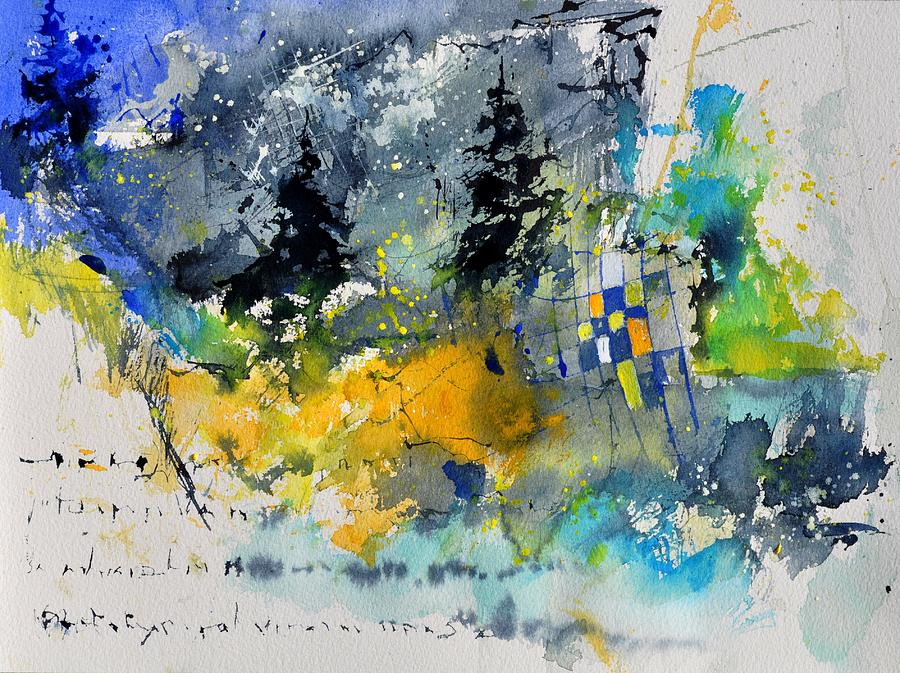 Abstract Painting - Watercolor 414062 by Pol Ledent