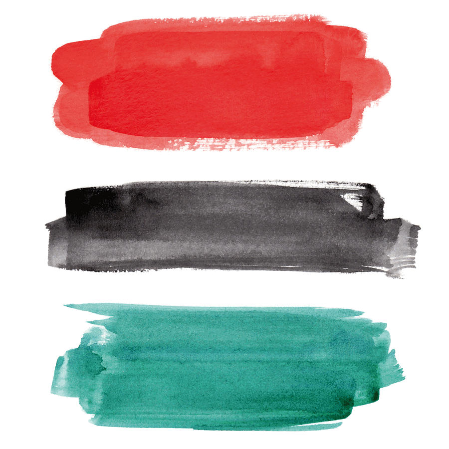 Watercolor banner collection Drawing by Ollustrator
