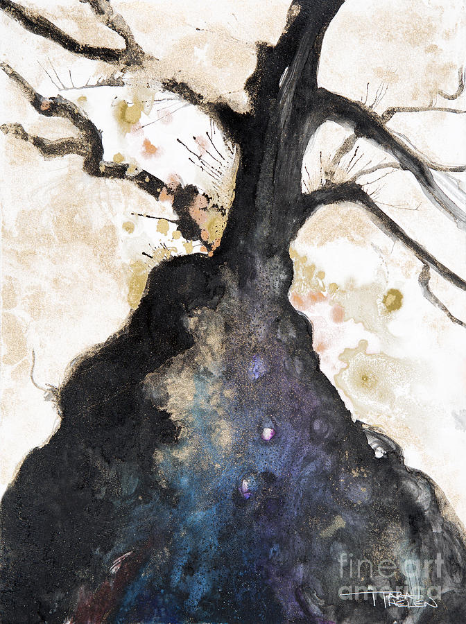 Abstract Painting - Watercolor Branches by Tara Thelen