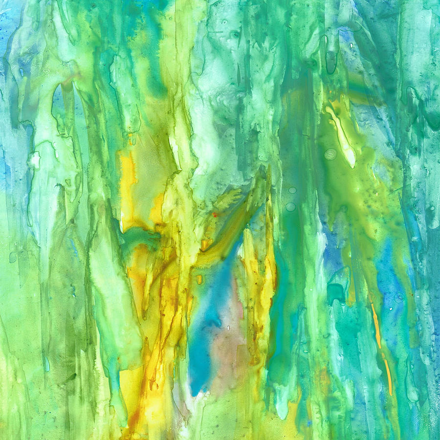Abstract Painting - Watercolor Cascade by Rosie Brown