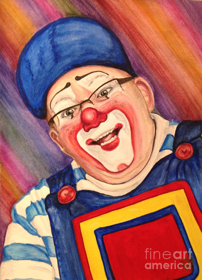 Klown Painting - Watercolor Clown #20 Lee Andrews by Patty Vicknair