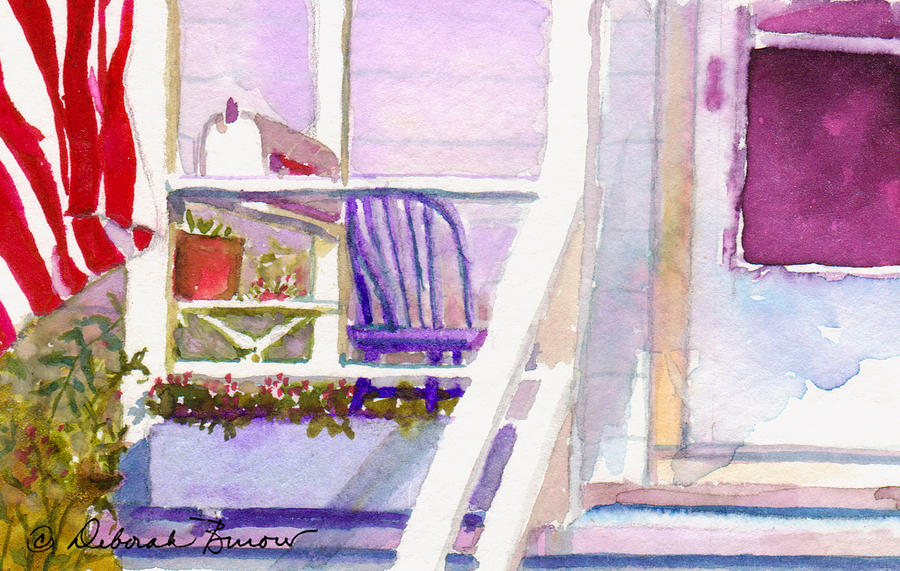 Purple Porch Painting by Deborah Burow