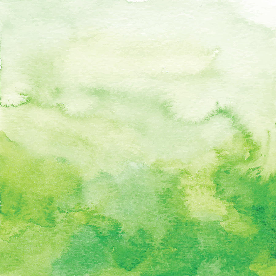Watercolor Green Ombre Backdrop Drawing by Saemilee