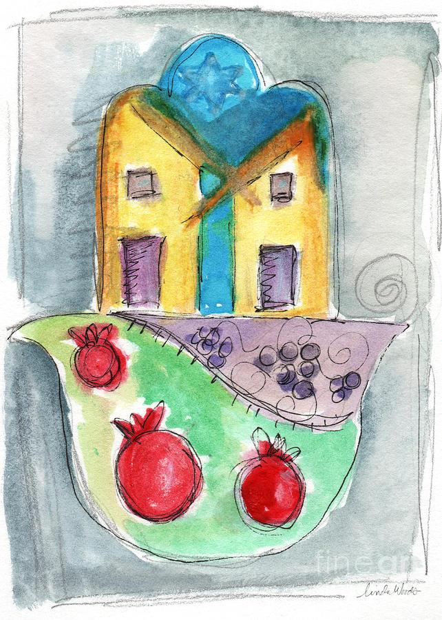 Watercolor Hamsa Painting