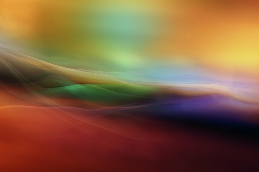 Abstract Photograph - Watercolor Lines by Heidi Westum