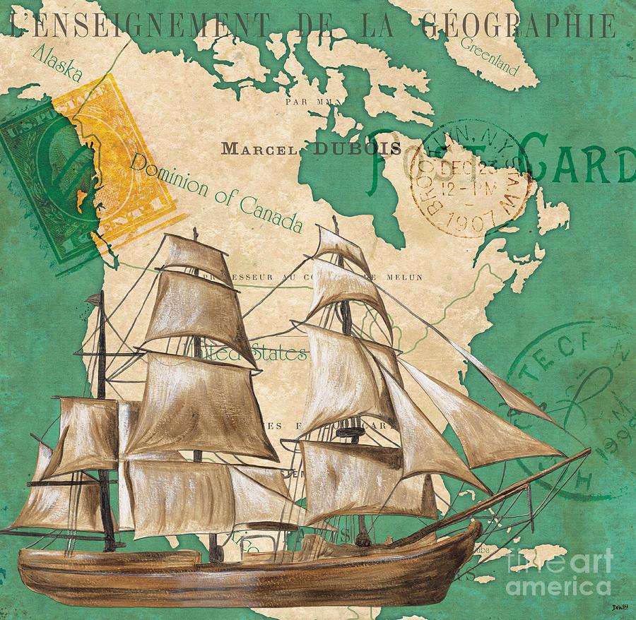 Watercolor Painting - Watercolor Map 2 by Debbie DeWitt