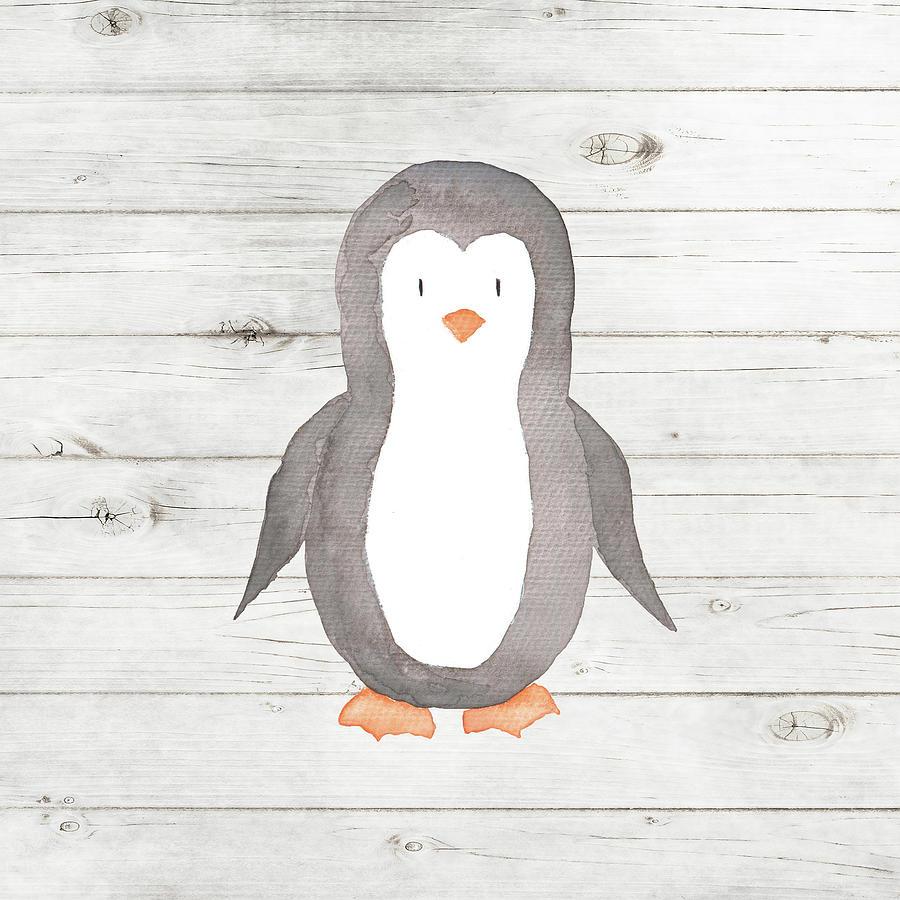 Baby Painting - Watercolor Penguin by Tamara Robinson
