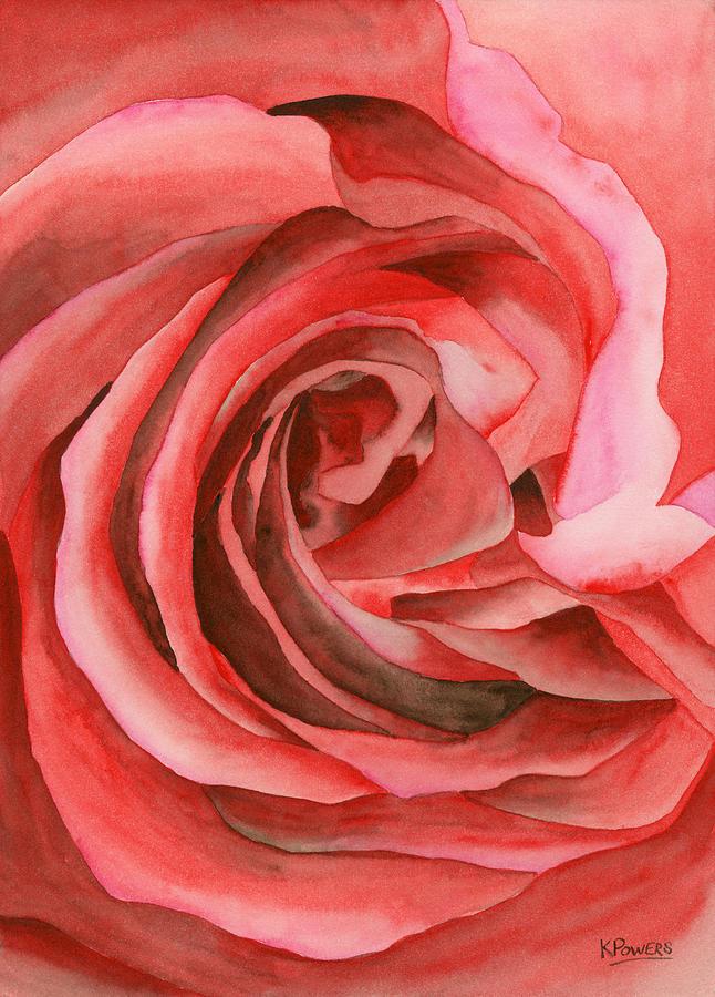 Watercolor Rose by Ken Powers