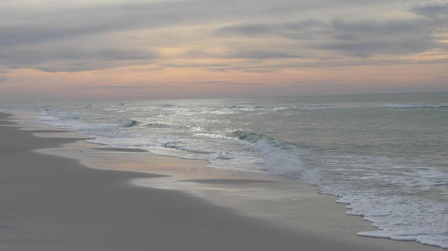 Seascape Photograph - Watercolor sunrise by Denise   Hoff