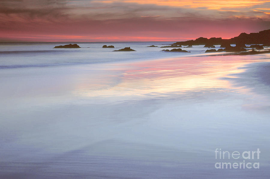 Ocean Photograph - Watercolors by Alice Cahill
