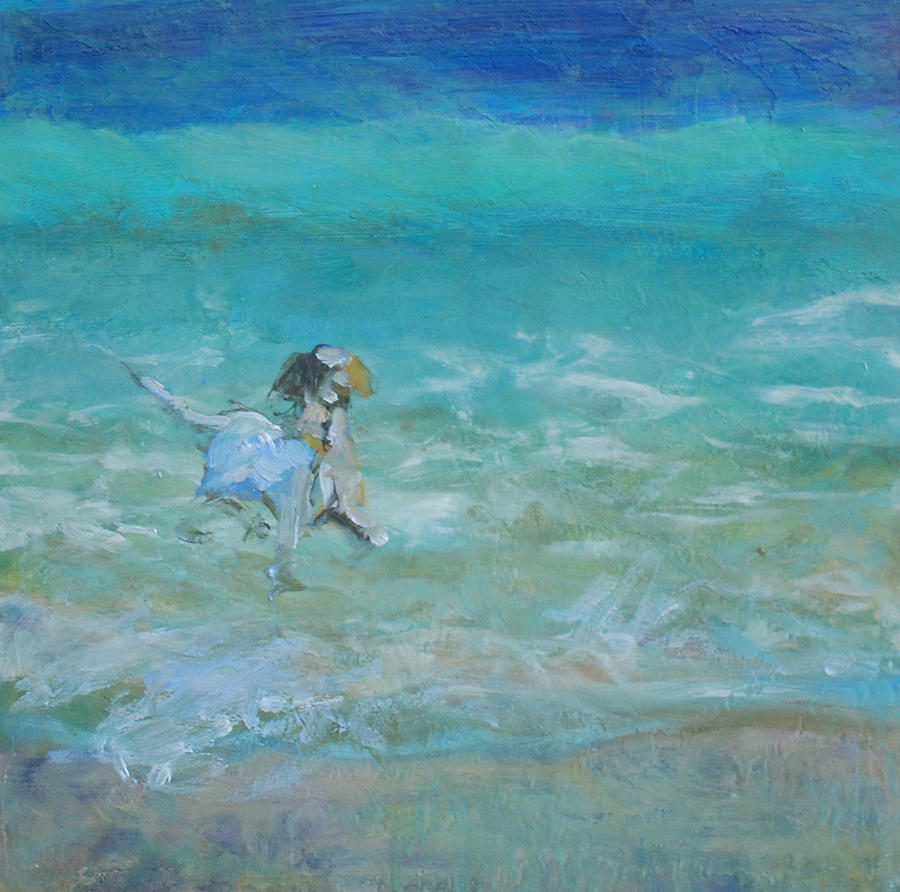 Dog Painting - Waterdog I by Marilyn Muller