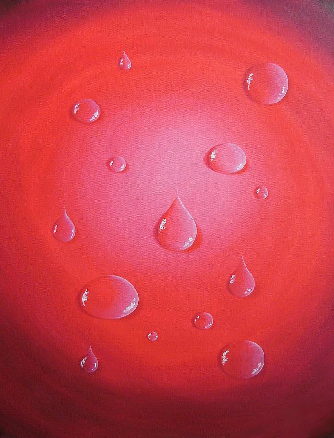Waterdrops Painting - Waterdrops by Sven Fischer