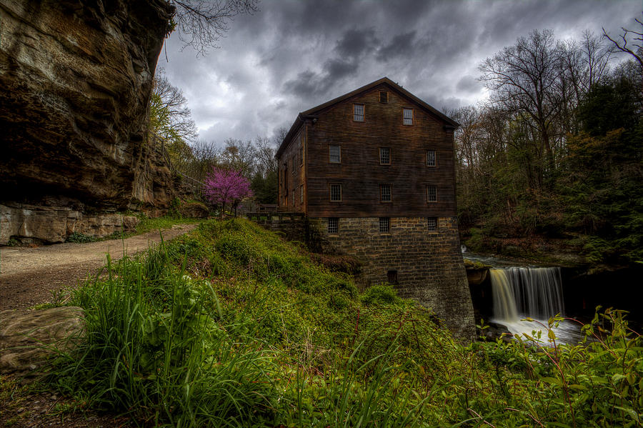 Mill Creek Park Photograph - Waterfall At The Old Mill by David Dufresne