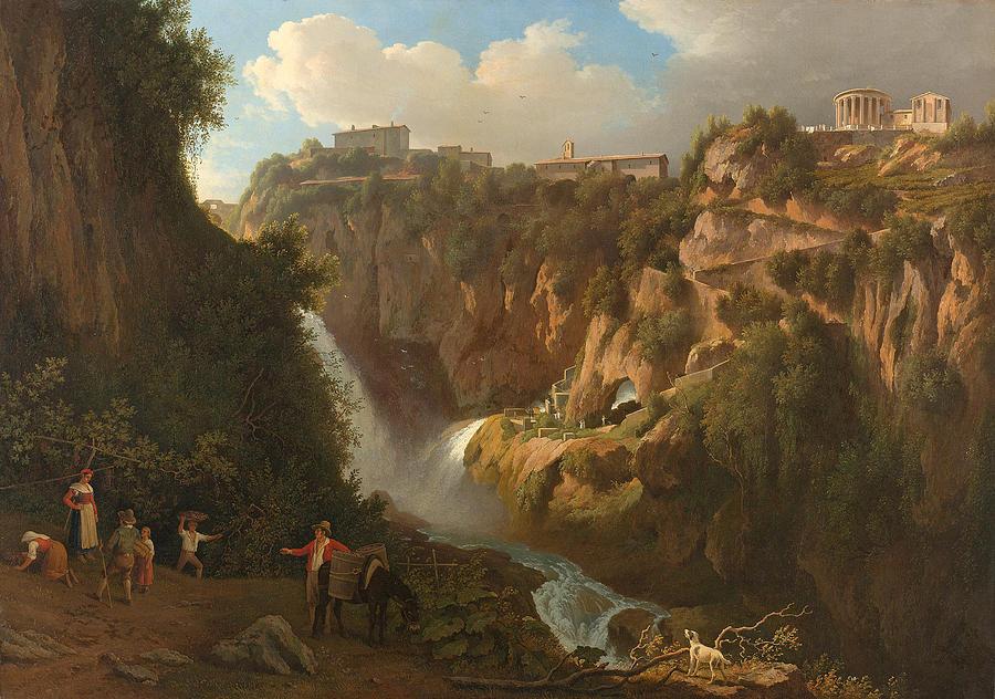River Painting - Waterfall At Tivoli by Abraham Teerlink