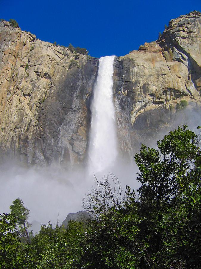 Waterfall at Yosemite by Stephen Haunts