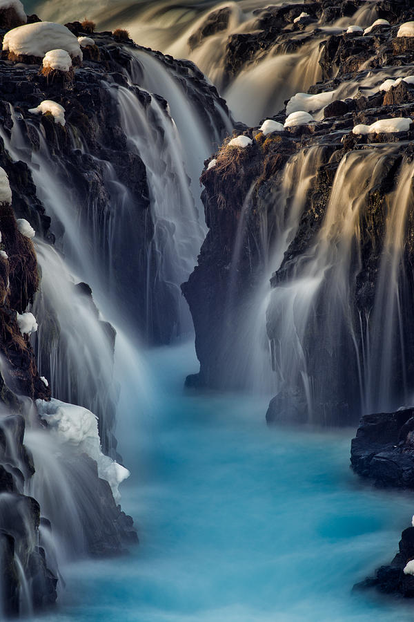 Blue Water Photograph - Waterfall Blues by Mike Berenson