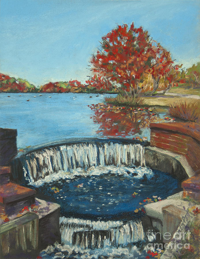 Waterfall Painting - Waterfall Brookwood Hall by Susan Herbst