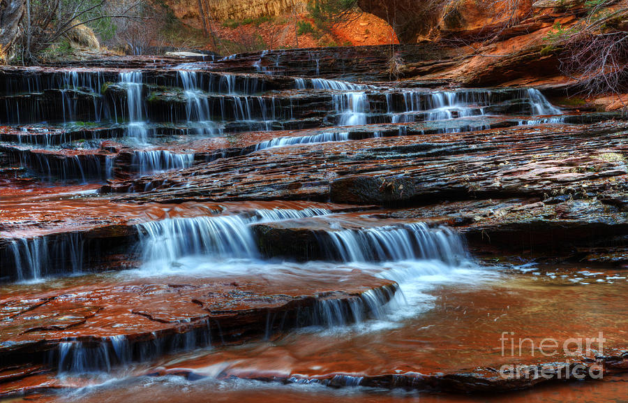 Water Photograph - Waterfall Cascade North Creek by Bob Christopher
