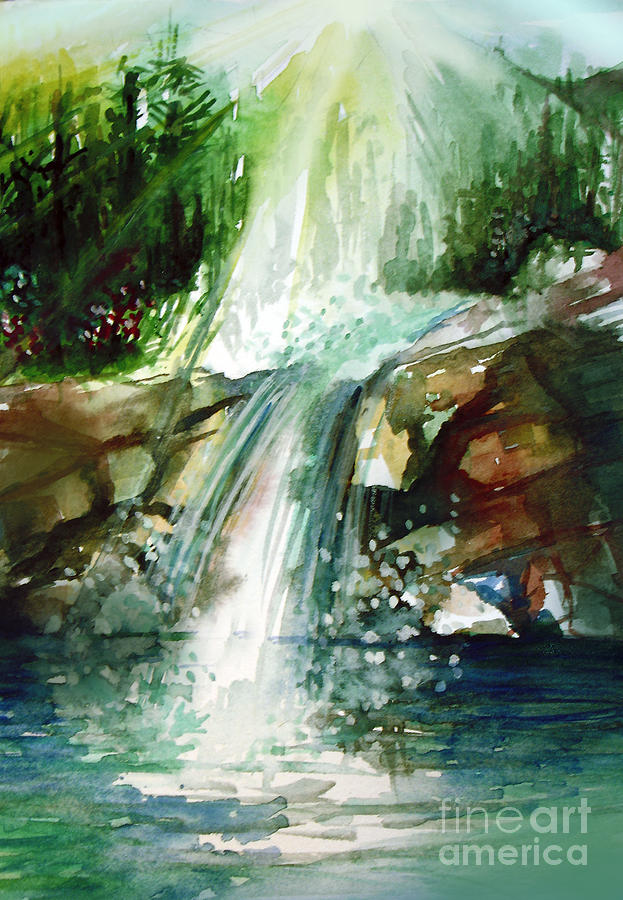 Waterfall Expression Painting